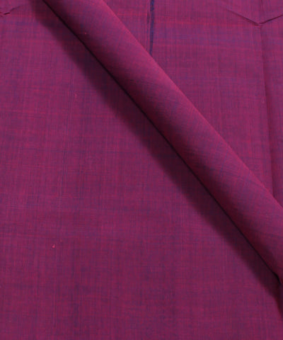 Plum Purple Mangalgiri Handloom Cotton Fabric