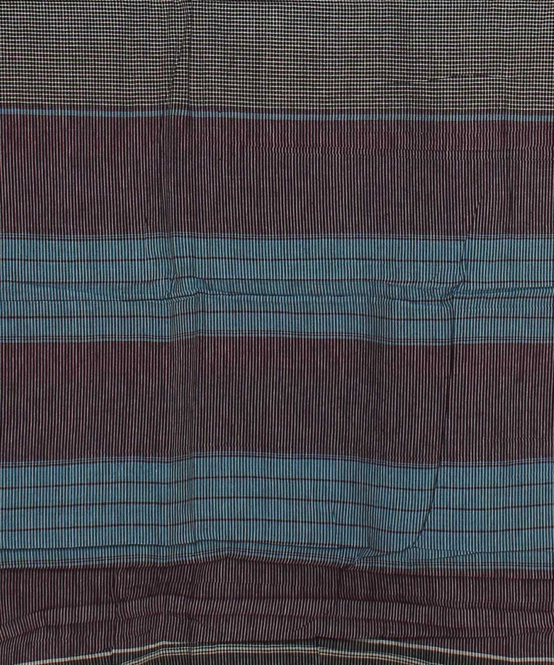 Grey Checks Patteda Anchu Handloom Saree