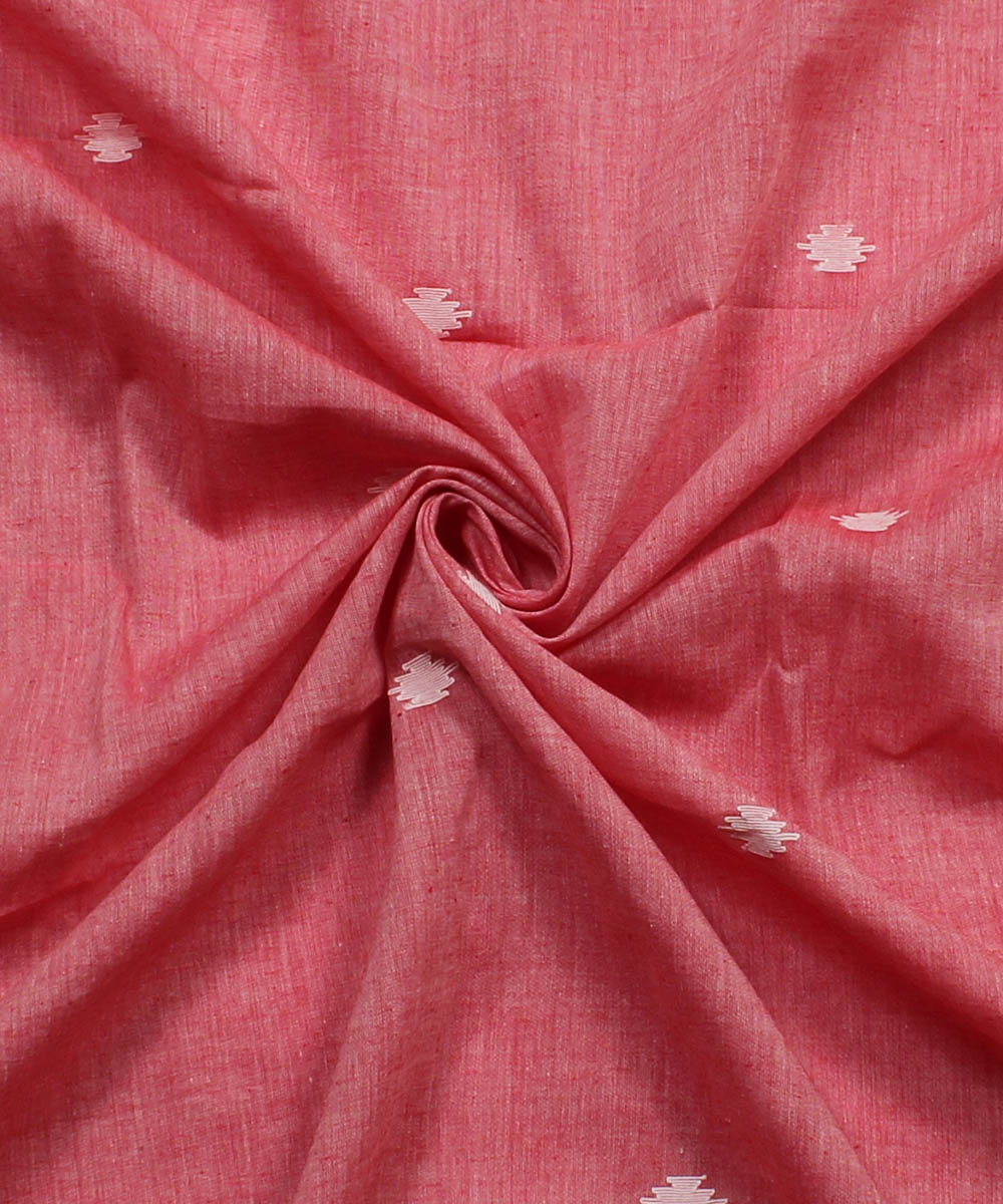 Pink Jamdani Handloom Cotton Fabric