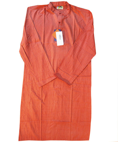 Light Red Sambalpuri Gents Kurta