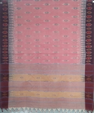 Light Pink siddipet tie and dye handwoven cotton saree