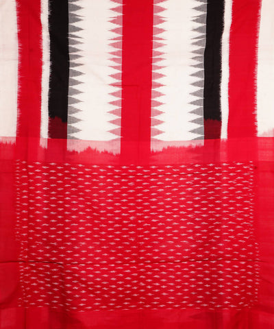 Off white Handwoven Pochampally Cotton Saree