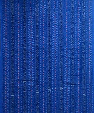 Cyan Cobalt Blue Nuapatna cotton Handwoven Dress Material