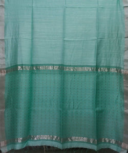 Bengal Jade Green Handloom Sequin Matka Silk Saree