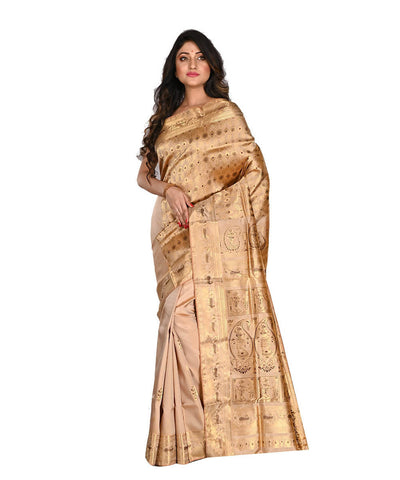 Bengal Handloom Gold Baluchari Silk Saree