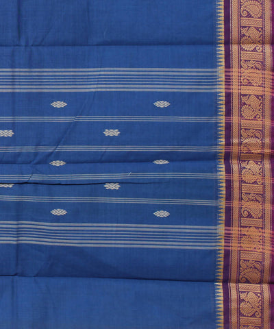 Dark Blue Handloom Cotton Saree