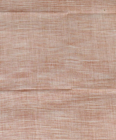 Brown White Tie Dye Cotton Khadi Fabric