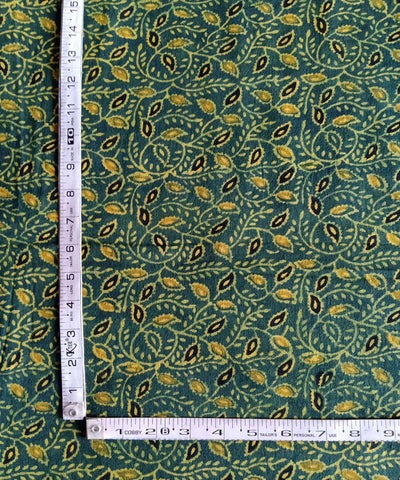 green yellow ajrakh handblock print handspun cotton kurta fabric