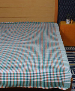 Multicolour Handloom Cotton Bed Cover