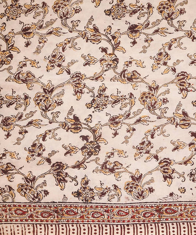 Kalamkari Handblock Print Cotton Saree