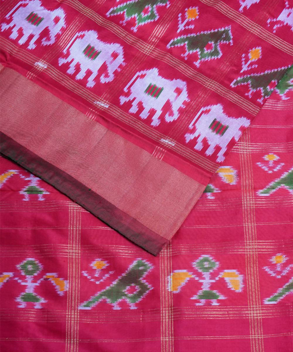 Red handloom pochampally silk saree
