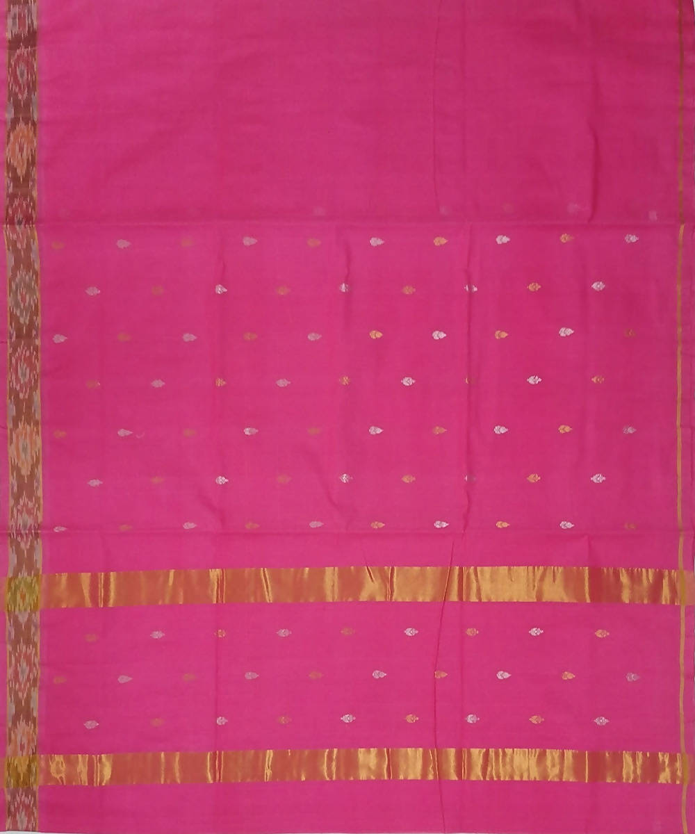 Light pink with butta handwoven venkatagiri cotton saree