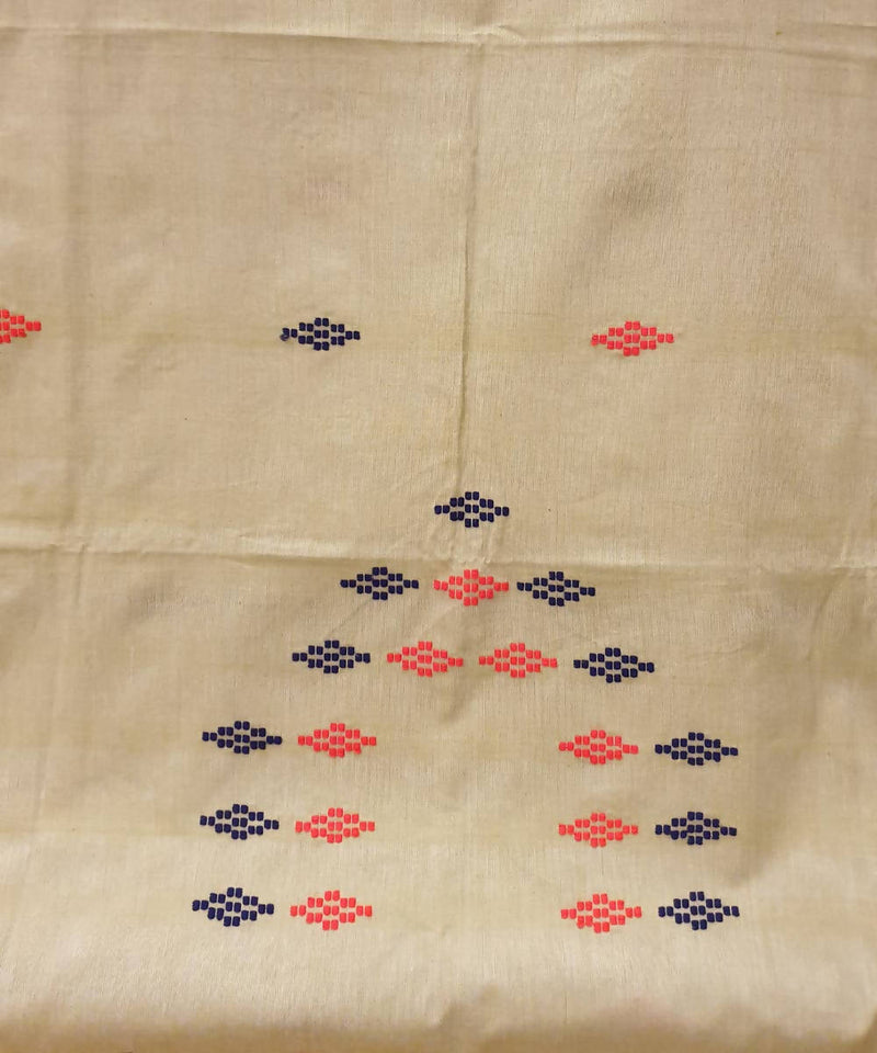 Esru beige assam handwoven cotton kurta piece