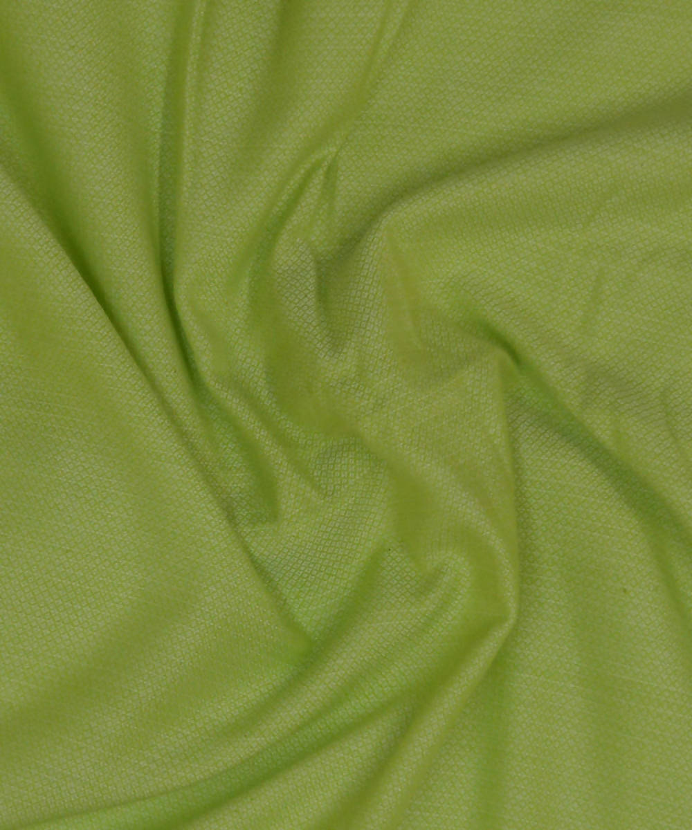 Handwoven cotton bambooPear Green Fabric