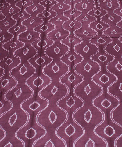 Mauve Shibori Print Cotton Kurta Fabric