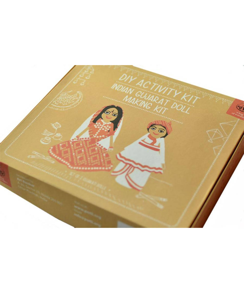 DIY Toys Indian Doll Making Craft Kit (Costumes of Gujarat) Set of 2