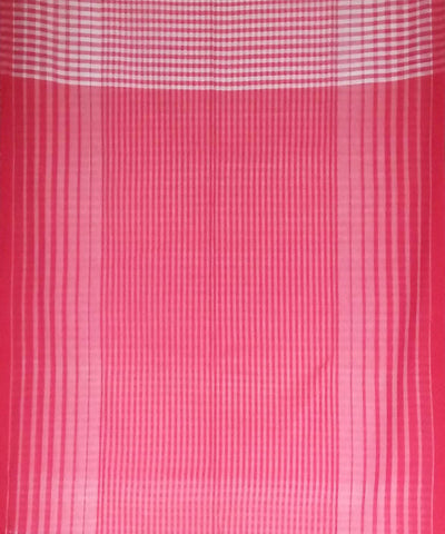 White Red Green Bengal Handloom Gamcha Cotton Saree