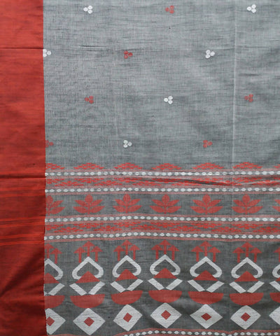Bengal Light Grey Handwoven Cotton Saree