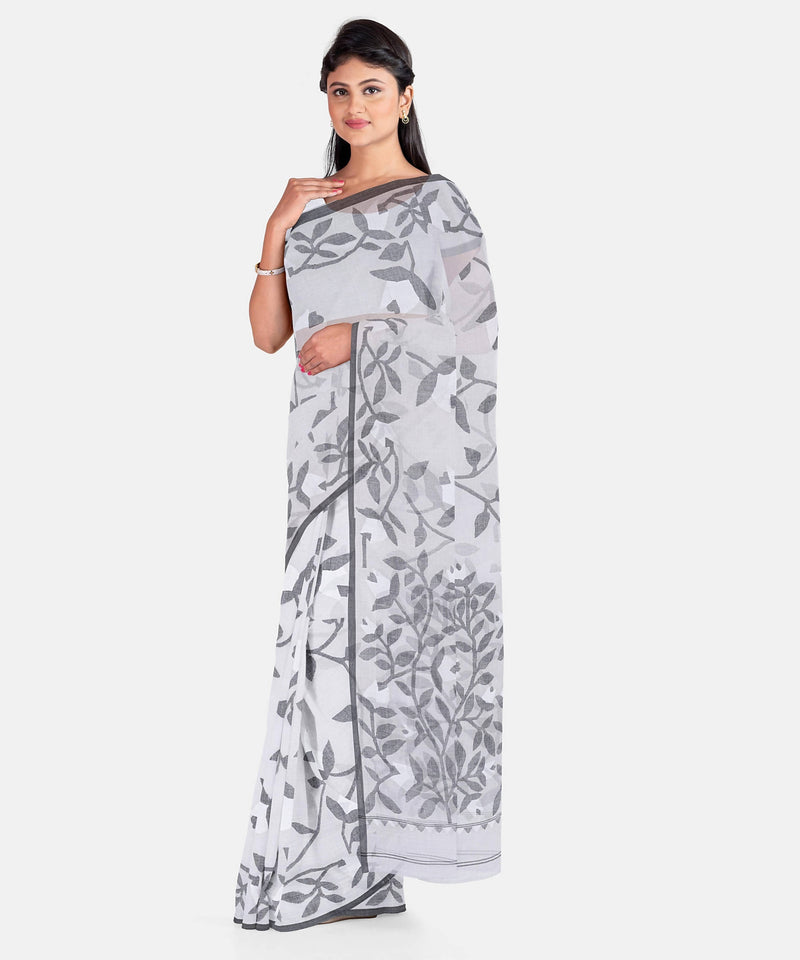 Biswa Bangla Handwoven Cotton Jamdani Saree