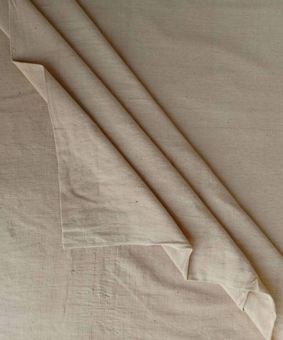 beige natural dye handspun handwoven Cotton kurta fabric