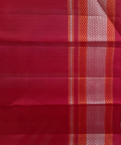 Red Peacock Eye Border Handloom Molakalmuru Silk Saree