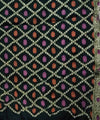 Bottle Green Handprinted tie dye Bandhani Saree