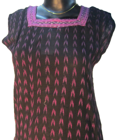 Black and Purple Kurti