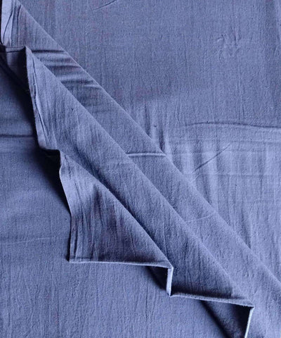 navy blue fabric dyed handspun handwoven cotton fabric (10m per quantity)