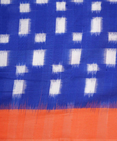 Ink Blue Handloom Pochampally Cotton Saree