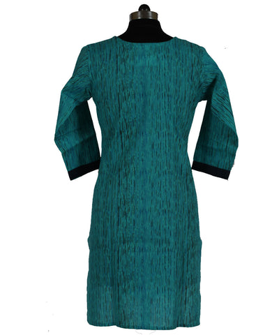 Khadi Nation Handwoven Sea Blue Kurti (KHADI-KK-224)