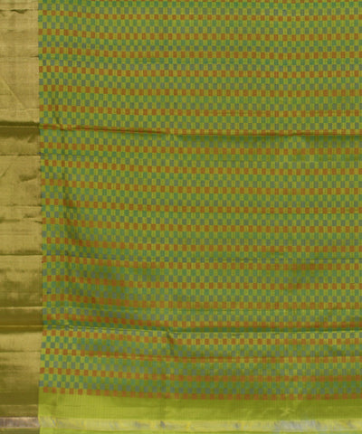 Khadi Nation Green Handwoven Silk Saree (KHADI-SS-255)