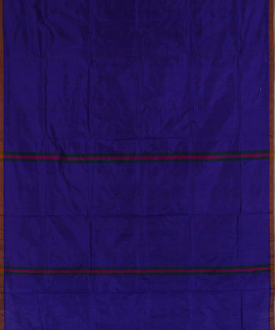 Khadi Nation Blue Handwoven Silk Saree ()