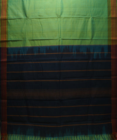 Handloom Green Kanchi Cotton Saree