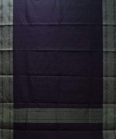 Loomworld Handwoven Violet And Grey Kanchi Cotton Saree