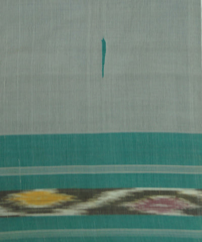 Handloom Grey Green Kanchi Cotton Saree
