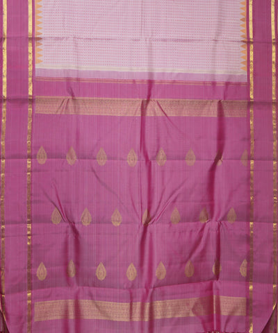 Kanchi Handwoven Light Pink Silk Saree