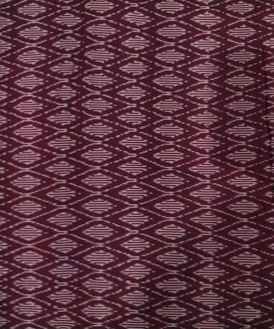 Maroon red Cotton Handwoven Pochampally Ikat Fabric