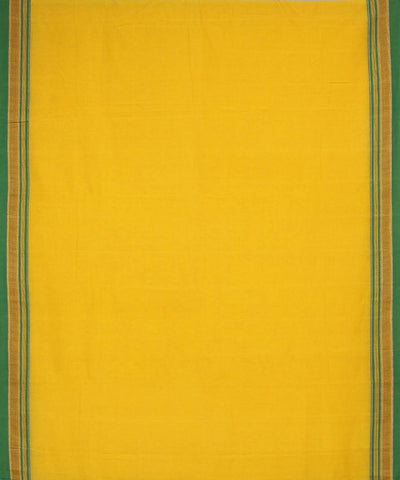 Yellow and Green Handloom Ilkal Saree