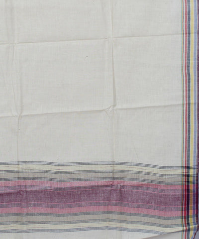 Handwoven Off White Cotton Khadi Saree