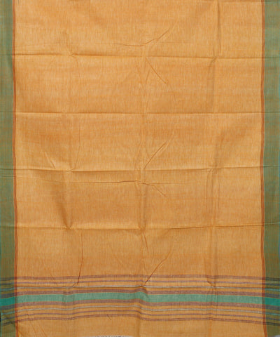 Light Orange Handwoven Cotton Khadi Saree
