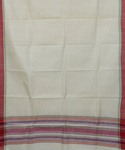 Off White Khadi Cotton Handwoven Saree