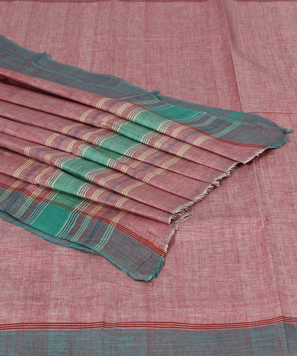 Light Brown Handwoven Cotton Khadi Saree