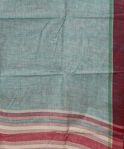 Light Blue Handloom Cotton Khadi Saree