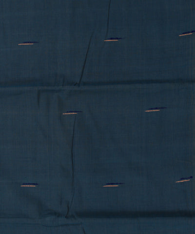 Blue and Green Handloom Cotton Fabric
