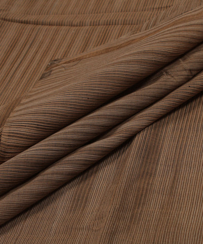 Brown Handloom Cotton Fabric
