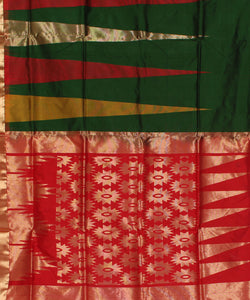 Dark Green Karnataka Handwoven Silk Saree