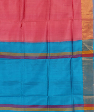Peach Karnataka Handwoven Silk Saree