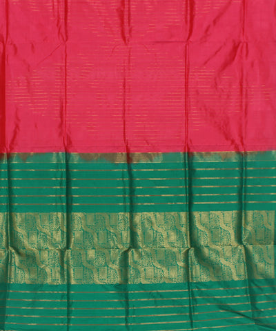 Khadi Salmon Pink Handwoven Silk Saree