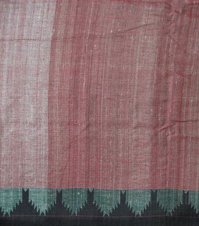 Exclusive Light Maroon And Coffee Traditional Kotpad Tussar/cotton Saree
