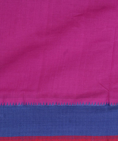 Pink Purple Handloom Mangalagiri Cotton Saree